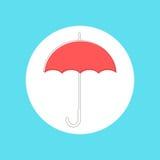Ombrello rosso in stile colpo Fotografia Stock Libera da Diritti