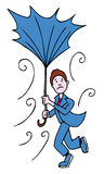 ombrello rotto dell'uomo Fotografia Stock Libera da Diritti