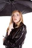 Ombrello spaventato Fotografia Stock