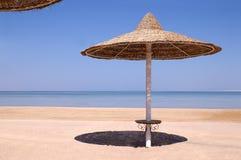 Ombrello sul mare, Egitto Immagine Stock Libera da Diritti