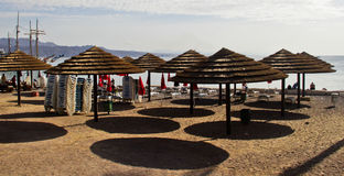 Ombrello sulla spiaggia Immagine Stock Libera da Diritti
