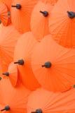 Ombrello tailandese dell'arancia di stile Fotografia Stock