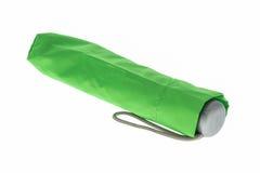 Ombrello verde isolato Fotografia Stock