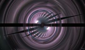 Ombres émergeant de l'éclipse temporelle Images libres de droits