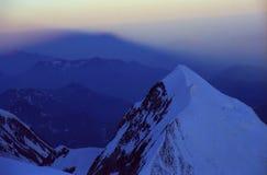 Ombres alpestres Photo stock