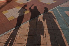 Ombres d'amis image stock