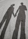 Ombres d'amour Photo libre de droits