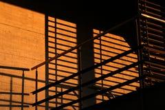 Ombres dans le coucher du soleil Image libre de droits