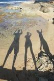 Ombres dans le rivage Photographie stock libre de droits