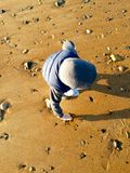 Ombres dans le sable Photos stock