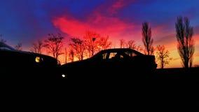 Ombres de crépuscule Photographie stock