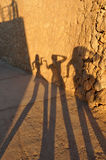 ombres de filles Images libres de droits