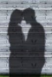 Ombres de l'embrassement de couples Photo libre de droits