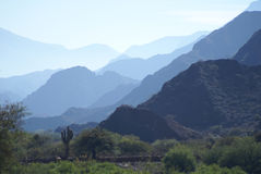 Ombres de montagne Photo stock