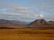 Ombres de nuage - désert arctique Image libre de droits