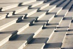 Ombres de personnes sur des escaliers Photo stock