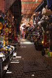 Ombres de Souk Photo stock