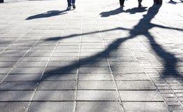 Ombres de ville d'hiver Image stock
