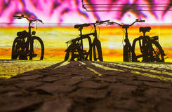 Ombres des bicyclettes Image stock
