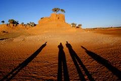 Ombres en Mongolie photos stock