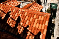 Ombres refllecting Photo libre de droits