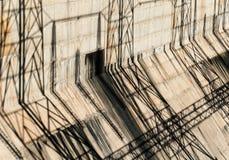 Ombres sur Davis Dam Photo libre de droits