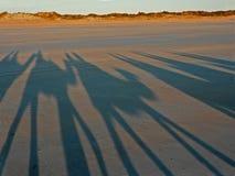Ombres sur la plage Images libres de droits
