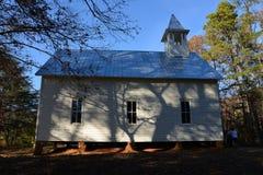 Ombres sur la vieille église Image stock
