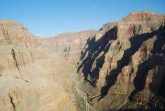 Ombres sur le canyon photographie stock