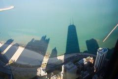 Ombres sur le lac Michigan photos libres de droits