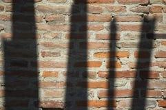 Ombres sur un mur Photos libres de droits
