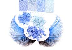 Ombretti blu di trucco Immagine Stock
