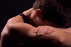 Ombro do exercício da mulher Fotografia de Stock