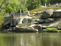 Ombro no parque de Umans Imagens de Stock Royalty Free