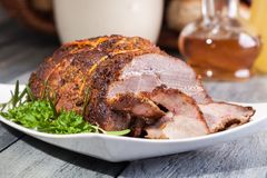 Ombro Roasted da carne de porco foto de stock