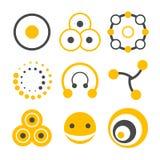 Omcirkel embleemelementen Stock Afbeeldingen