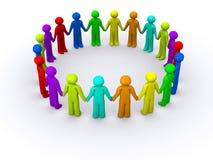Omcirkeld van mensen Royalty-vrije Stock Afbeelding