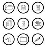 Omcirkelde pictogrammen Stock Foto