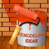 Omdana idéer som visar Diy förbättringsförslag 3d Illustra Royaltyfri Bild