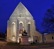 Omdana-kalvinist kyrka av Cluj, Rumänien Fotografering för Bildbyråer
