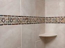 Omdanad badrumtegelplatta Arkivbild