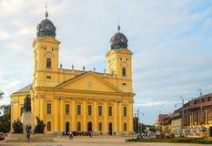 Omdanad kyrka - Debrecen royaltyfri bild