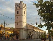 Omdanad kyrka - Debrecen, Ungern Arkivbilder