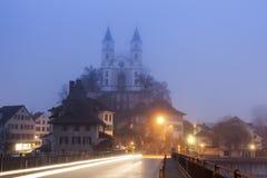 Omdanad kyrka i Aarburg Arkivfoto