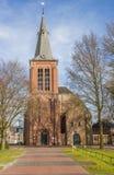 Omdanad kyrka i mitten av Veendam Royaltyfria Foton