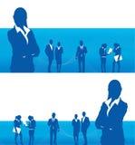 επιχειρηματίες εμβλημάτ&ome Στοκ εικόνα με δικαίωμα ελεύθερης χρήσης