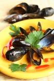 οστρακόδερμα πιάτων φούρν&ome Στοκ Εικόνες