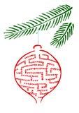 λαβύρινθος Χριστουγένν&omega Στοκ φωτογραφία με δικαίωμα ελεύθερης χρήσης