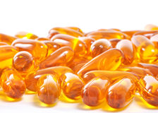Omega 3. Fish oil capsules royalty free stock photography
