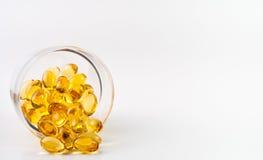 Omega 3 capsules Royalty-vrije Stock Foto's